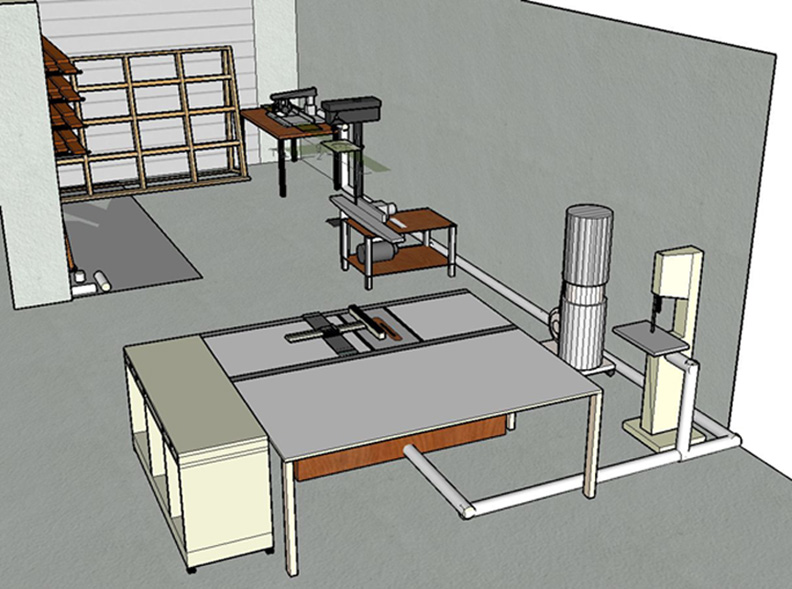 best layout for a small wood working shop